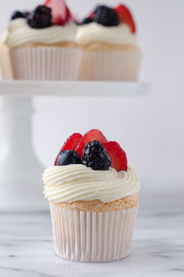 Lemon Berry Angel Food Cupcakes | The Cake Merchant