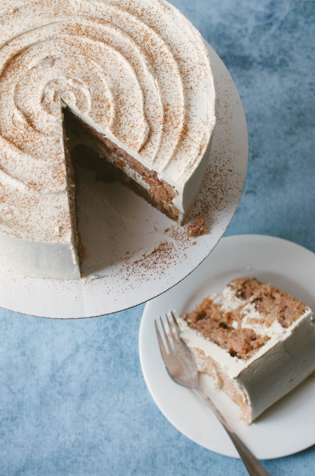 Maple Cream Cheese Frosting spiced apple cake with maple cream cheese frosting | the cake merchant