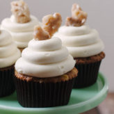 Spiced Apple, Walnut, and Goat Cheese Cupcakes
