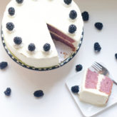 Blackberries and Cream Cake
