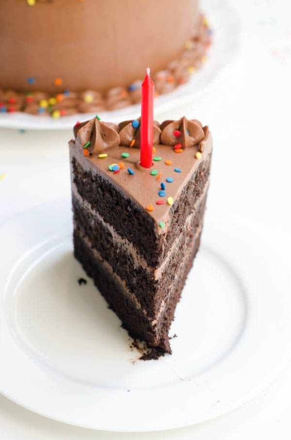 Chocolate Birthday Cake: Devil's Food Cake with Rich Chocolate ...