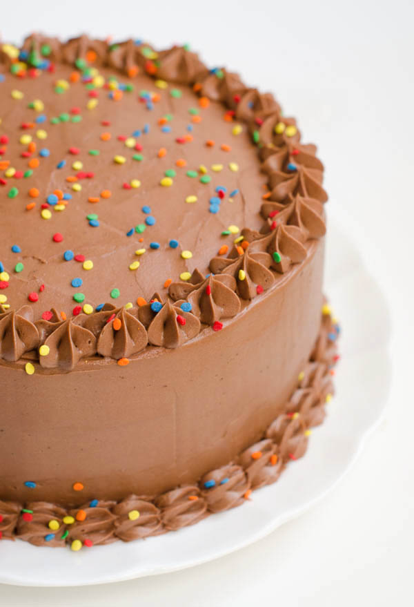 Chocolate Birthday Cake: Devils Food Cake with Rich Chocolate ...