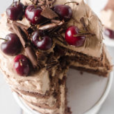 Chocolate Cherry Amaretto Cake