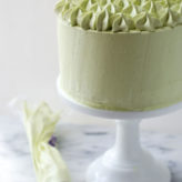 Dark Chocolate Matcha Layer Cake