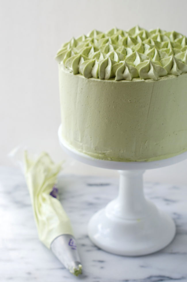 Dark Chocolate Matcha Layer Cake The Cake Merchant