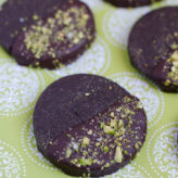 Dark Chocolate Shortbread Cookies with Pistachios and Sea Salt