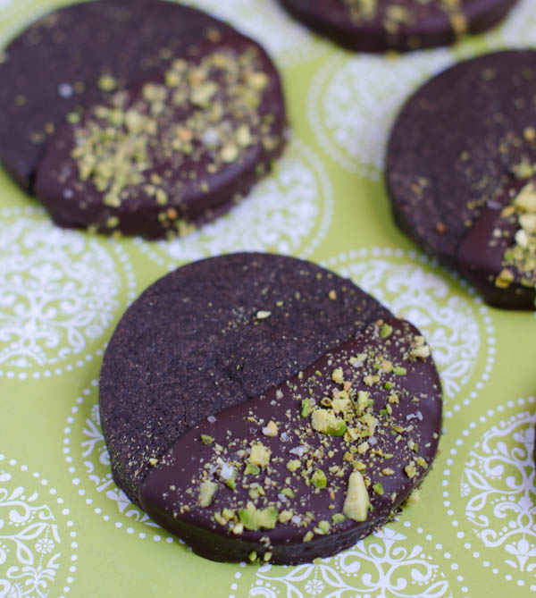 Dark Chocolate Shortbread Cookies with Pistachios and Sea Salt | The ...