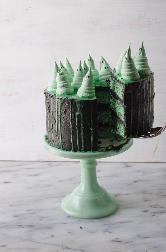 Green Ghoul Cake