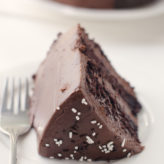 Dark Chocolate Cake with Malted Chocolate Frosting
