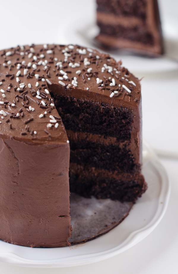 Dark Chocolate Cake with Malted Chocolate Frosting | The Cake Merchant