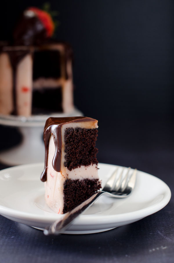Mini Chocolate Covered Strawberry Cake