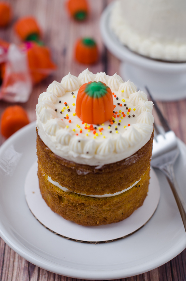 Mini Cake Recipes With Pictures : Mini Pumpkin Layer Cakes for Two The Cake Merchant
