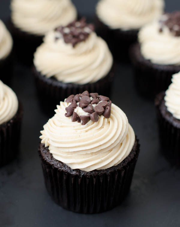 Mocha Chocolate Chip Espresso Cupcakes | The Cake Merchant
