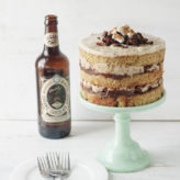 Momofuku Inspired Chocolate Stout, Pretzel, and Marshmallow Cake