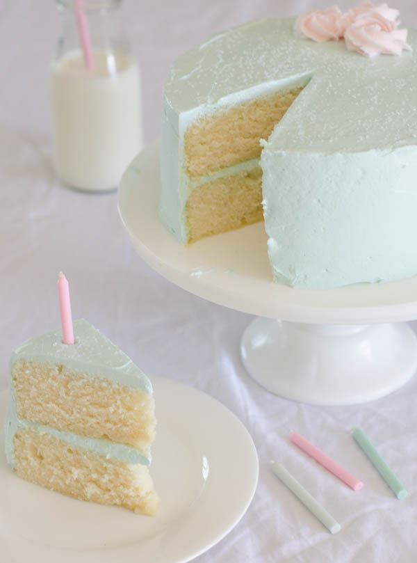 One Bowl Vanilla Cake-12
