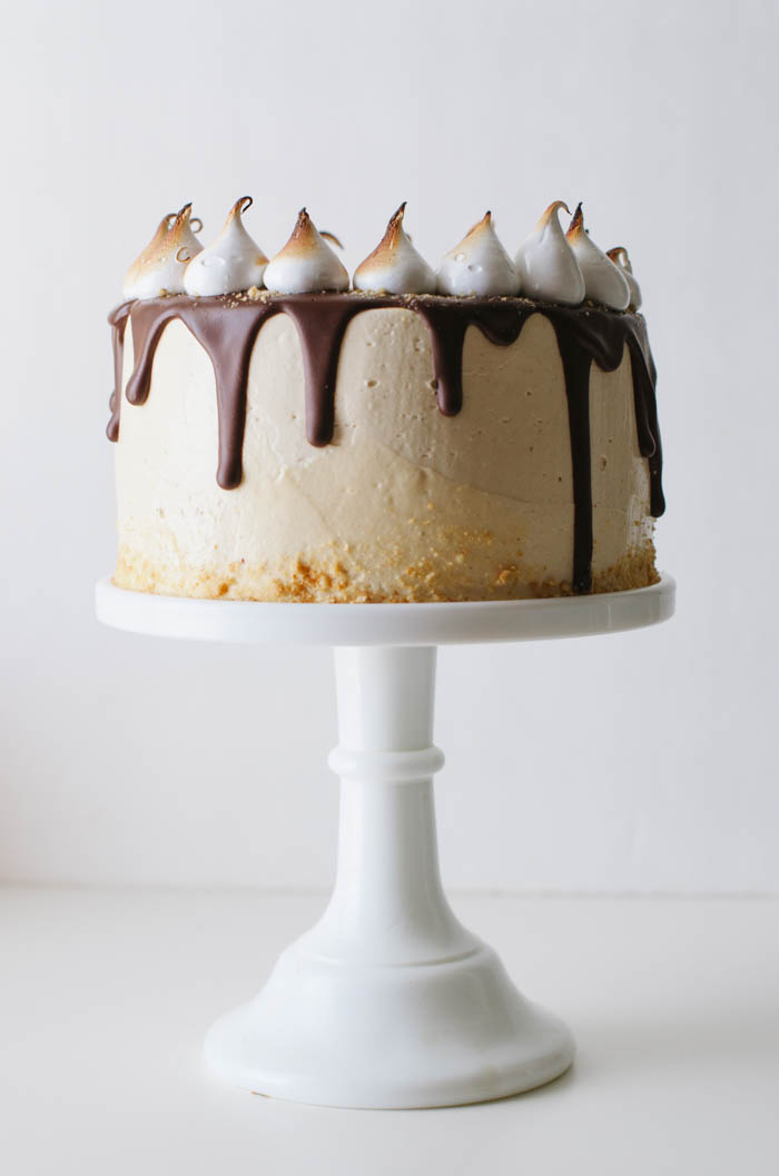 Peanut Butter Smore's Cake