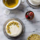 Tea for Two: Pistachio Orange Mini Cakes with Grand Marnier Cream Cheese Frosting