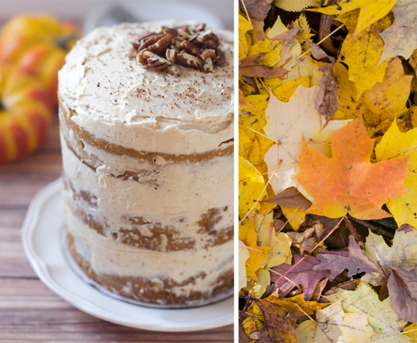 spice layer cake with caramel and cream cheese frosting pumpkin spice ...