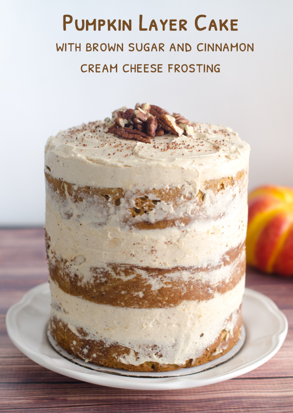 spiced pumpkin layer cake with cream cheese frosting recipes pumpkin ...