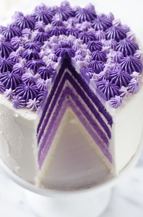 Purple Ombre Layer Cake The Cake Merchant