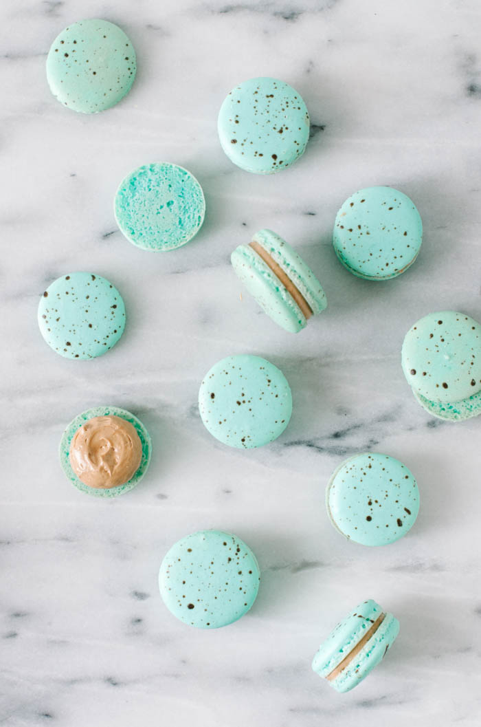 Speckled Egg Macarons