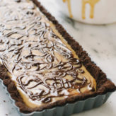 No Bake Tiger Butter Tart