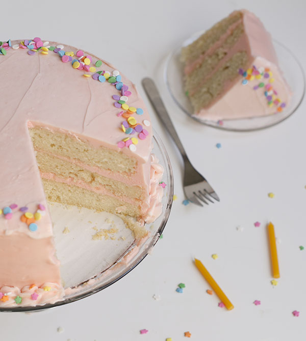 Vanilla Bean Birthday Cake