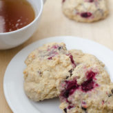 Vegan Whole Wheat Chocolate Chunk Raspberry Drop Scones