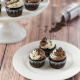 Vegan Mini Vanilla and Chocolate Swirl Cupcakes (and how to make mini cupcakes)