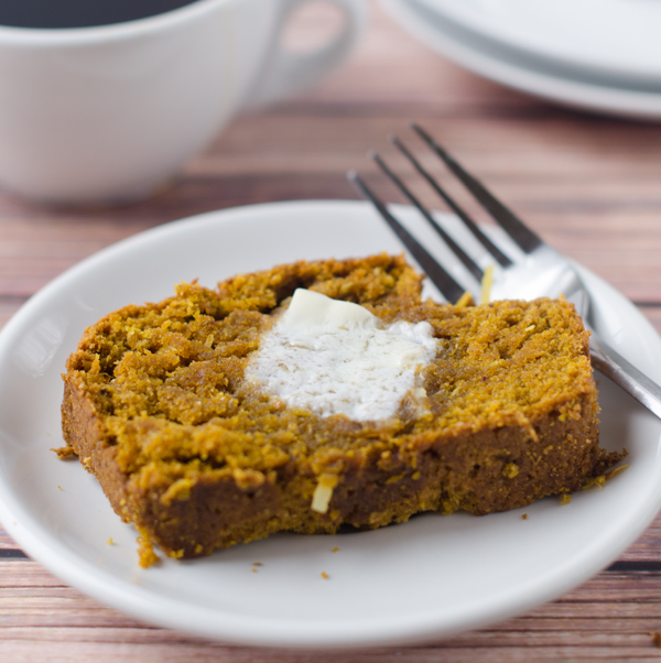 Vegan Pumpkin Coconut Bread