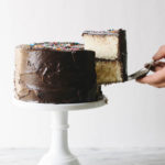 Yellow Cake with Chocolate Creme Fraiche Frosting