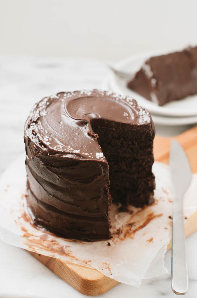 Whole Wheat Vegan Chocolate Cake